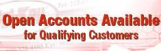 Open Accounts Available for Qualifying Customers