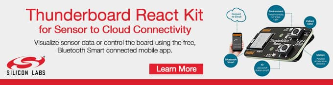 Silicon Labs ThunderBoard-React Bluetooth® Smart Reference Design Kit