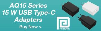 Phihong AQ15 Series 15 W USB Type-C Adapters