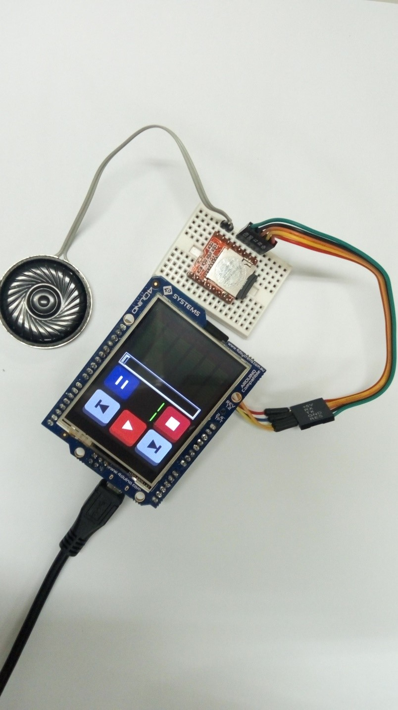 MP3 Player Using 4Duino and SOMO-II